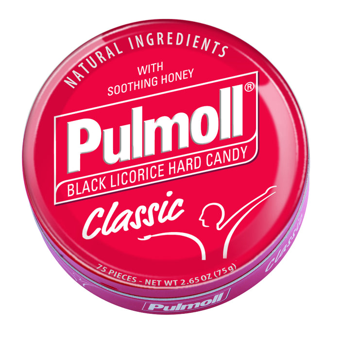 Pulmoll Black Licorice Classic Hard Candy Lozenge