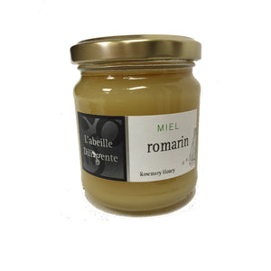 L'Abeille Diligente Rosemary Honey is a lovely French honey collected from bees who primarily collect nectar from the rosemary flower.