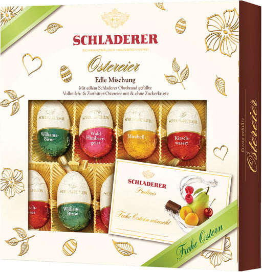 Schladerer Fruit Liqueur Filled Chocolate Eggs Gift Box Assortment