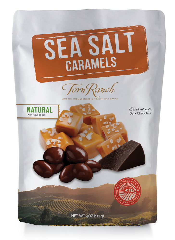 Torn Ranch Natural Sea Salt Dark Chocolate Caramels Pouch