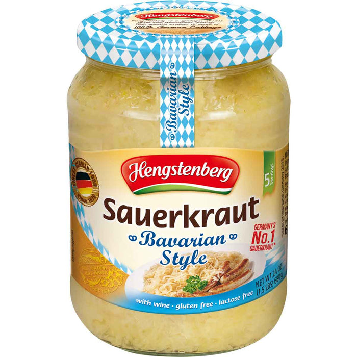 Hengstenberg Bavarian Wine Sauerkraut is No. 1 in Germany and the most popular all over the world.