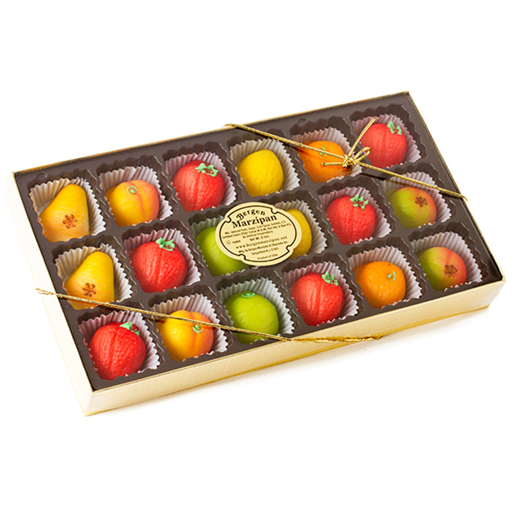 Bergen Fruit Marzipan Assortment - 18 Pieces - European Deli