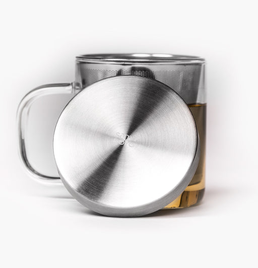 Paper and Tea Glass Brewing Mug