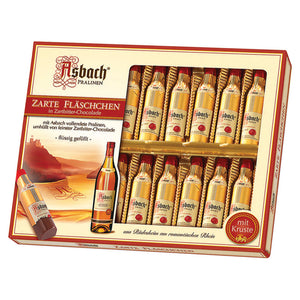 Asbach Chocolate Bottles in Gift Box - 20 Pieces