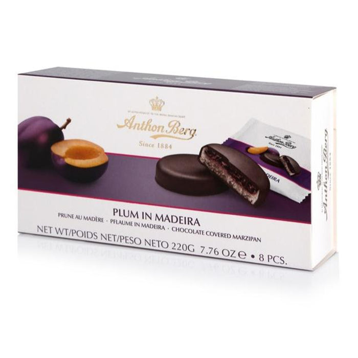 Anthon Berg Chocolate with Marzipan & Plum in Madeira Filling showcases the marriage of Fruit in Marzipan that has stood the test of time and we think will live happily ever after.