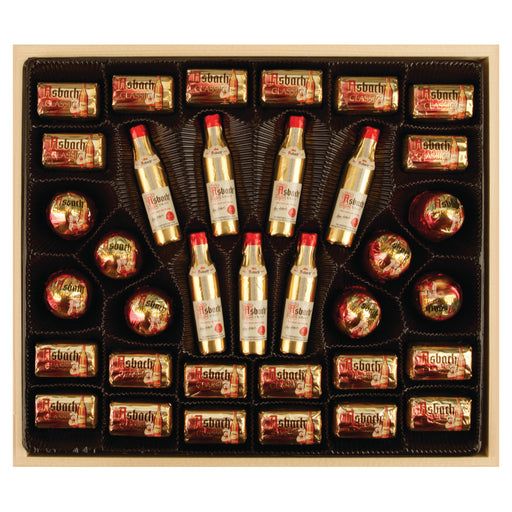 Asbach Chocolate Assortment in Wooden Gift Box - European Deli