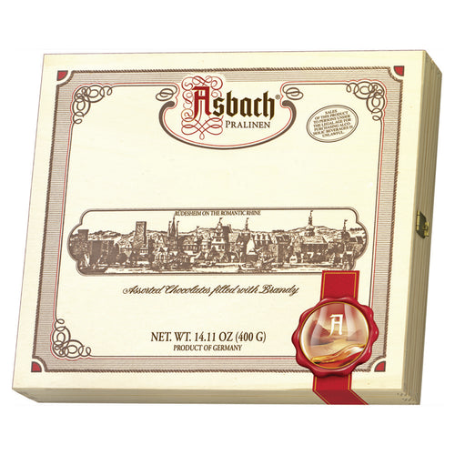 Asbach Chocolate Assortment in Wooden Gift Box