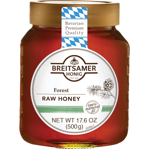 Breitsamer Honig Raw Forest Honey is 100% Natural dark honey from the Alpenhonig Forest in Bavaria.