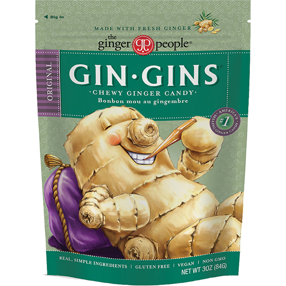 Ginger People Gin Gins Chewy Ginger Candy is America's #1 selling ginger candy