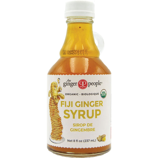 Ginger People Organic Fiji Ginger Syrup is a golden ginger-infused syrup to drizzle over fruit salads, ice cream or cakes.