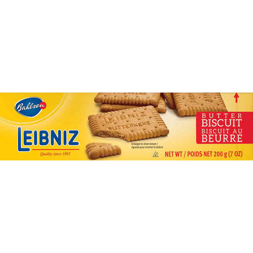 Bahlsen Leibniz Butter Biscuits are rich, pure, creamy cookies with a crunch you can hear and a taste that will melt in your mouth