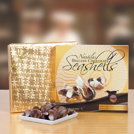 Nautilus Belgian Chocolate Seashells - 18 Pieces - European Deli