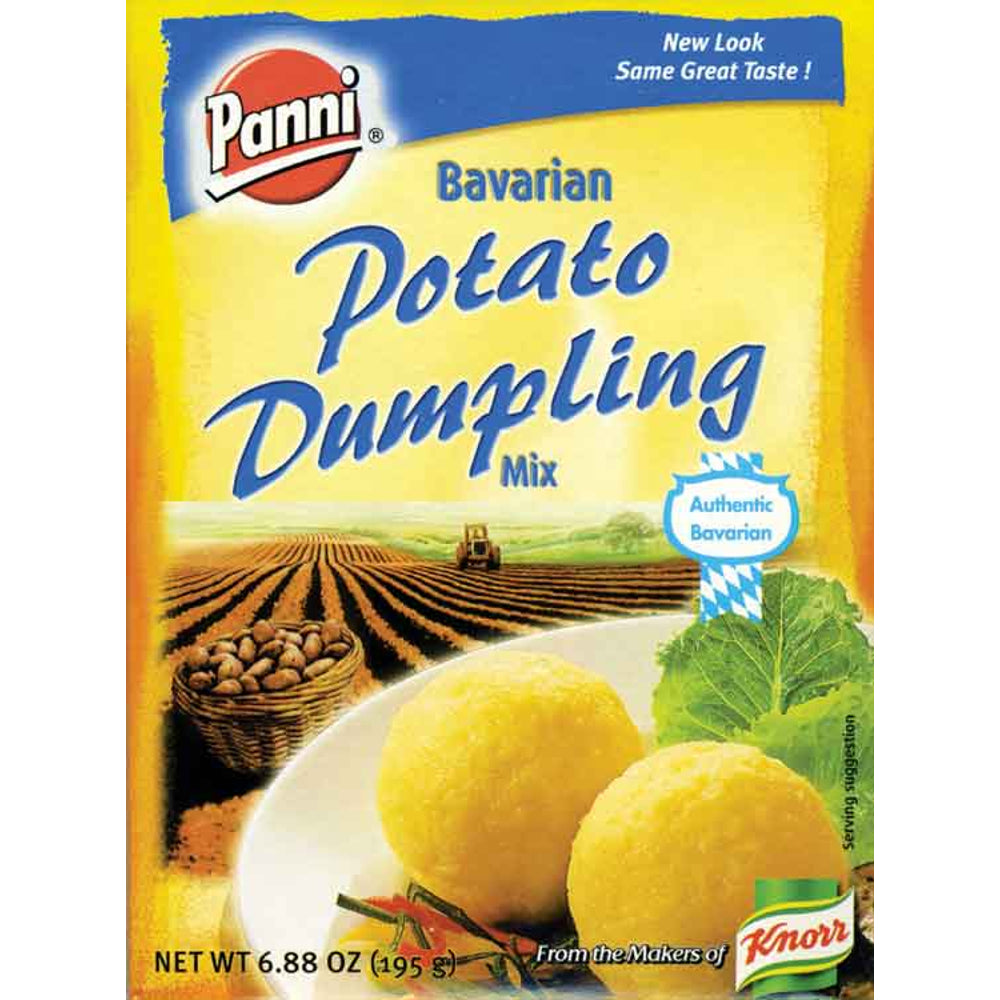 Panni Bavarian Potato Dumpling Mix makes 7 2-inch dumplings which have a smooth texture and are the perfect complement to a variety of beef, sausage or poultry dishes with savory gravies