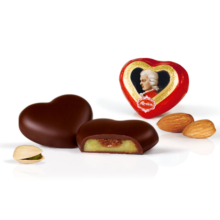 Reber Mozart Hearts in Counter Display Box - 96 Pieces