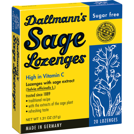 Dallmann's Sugar Free Sage Lozenges - European Deli