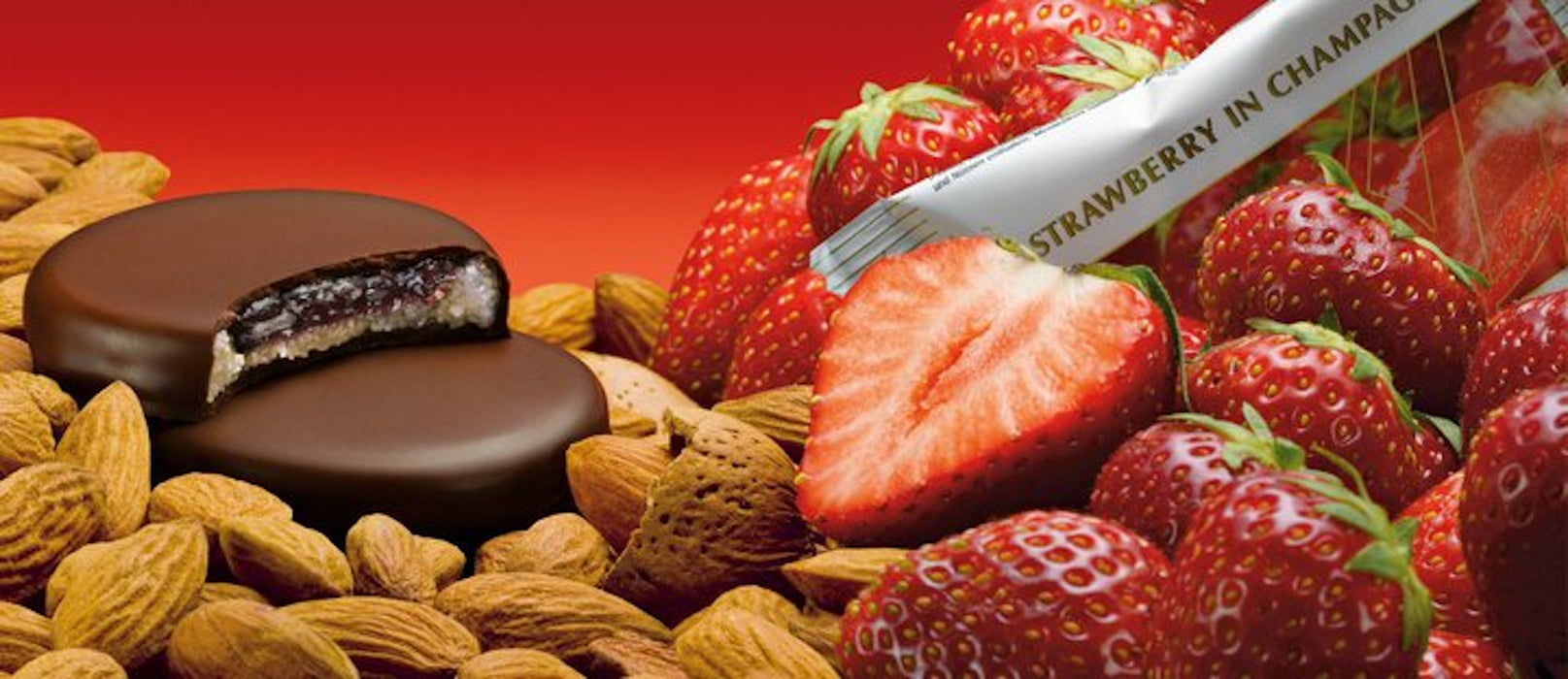 Anthon Berg Chocolate with Marzipan & Strawberry in Champagne Filling - European Deli