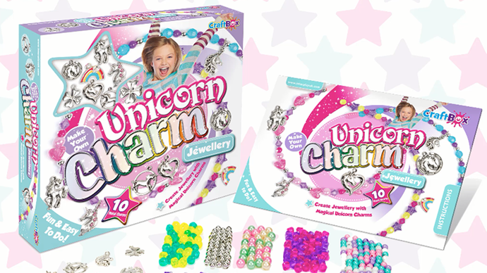 Unicorn Charm Jewellery - Create beautiful bracelets and necklaces and with magical unicorn charms!