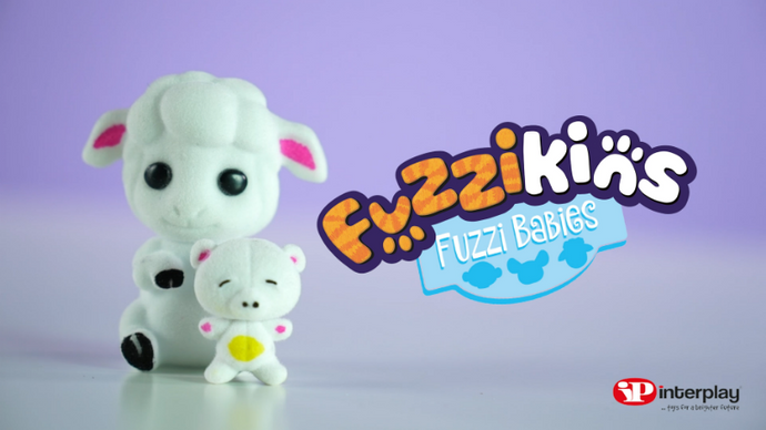 NEW Fuzzi Babies - Hamster, Lamb & Monkey (with KidsKnowBest)