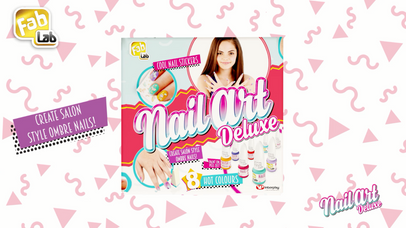 The NEW Nail Art Deluxe kit from FabLab! Create salon style, gorgeous nail designs!