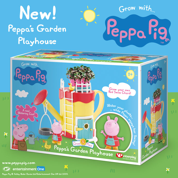 Introducing the new Peppa Pig's Garden Playhouse and Grandpa Pig's Greenhouse!