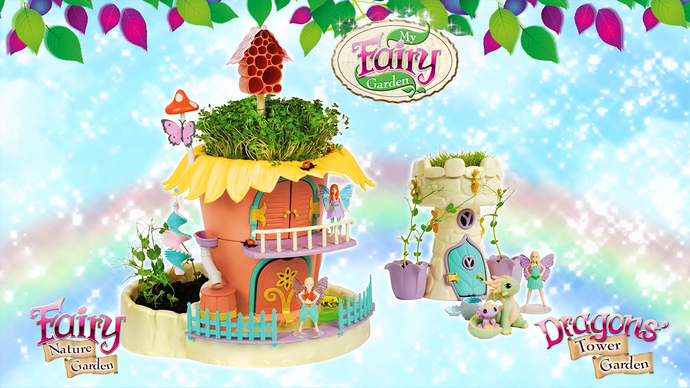 The NEW Fairy Nature Garden & Dragon's Tower Garden!
