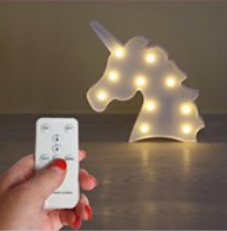 Unicorn Night Light with Remote