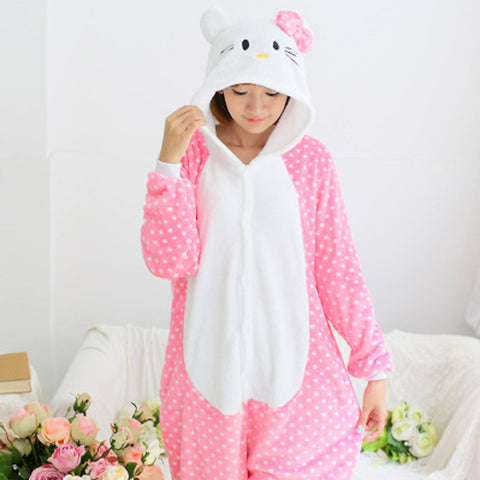 Pink and White Hello Kitty Onesie