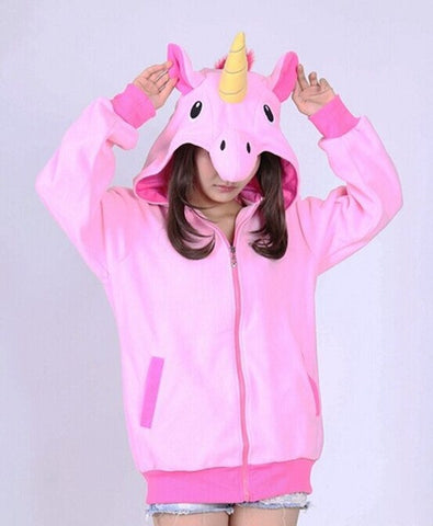 This is not a costume. This is real life. Meet my unicorn hoodie.