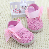 Pink Crochet Baby Shoes with Side Bow