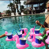 A Set of 2 Floating Flamingo Drink Holders