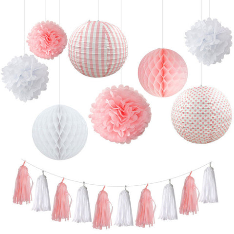 Pink Paper DIY Decor Set