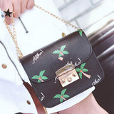 Ladies' Handbag with Palm Tree and Gold Detail