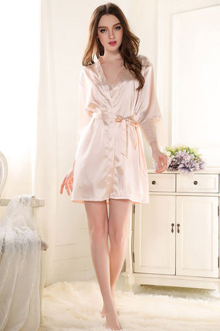 Light Pink Satin Robe