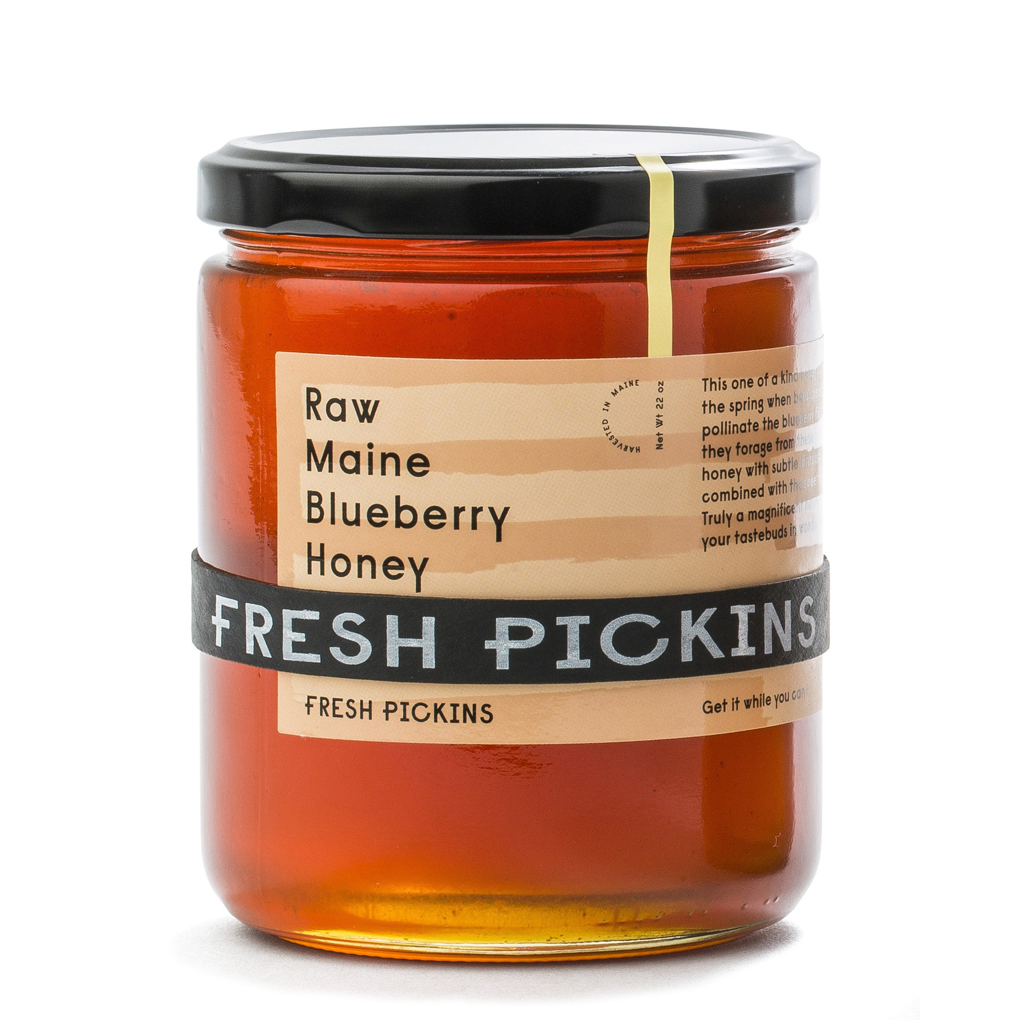 RAW MAINE BLUEBERRY HONEY (22oz)