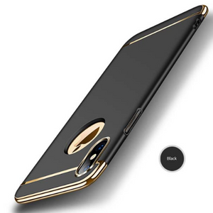 749-Luxury Removable 3 in 1 Shockproof Armor Case For iPhone X