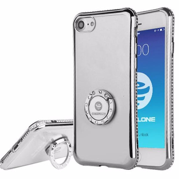Bling Crystal Diamond Case For iPhone-silver