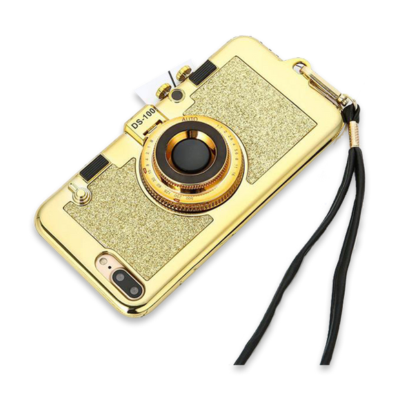323-Luxury 3D Retro Camera Case For iPhone