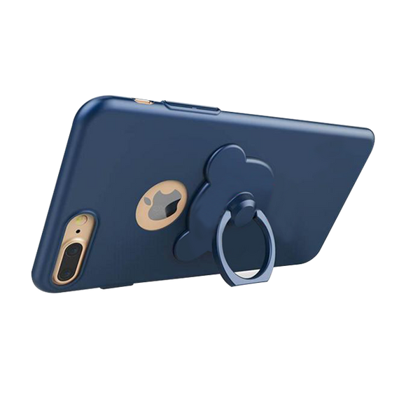 Full Protection Bear Ring Holder Case For iPhone