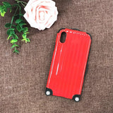 1089-Luxury Luggage Trolley Case For iPhone