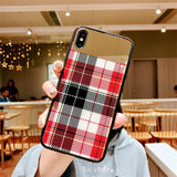 1125- Simple And Stylish Checkered Mirror Case For iPhone