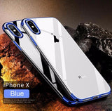613-Luxury Silicone Silm Protection Phone Soft Shell For iPhone X