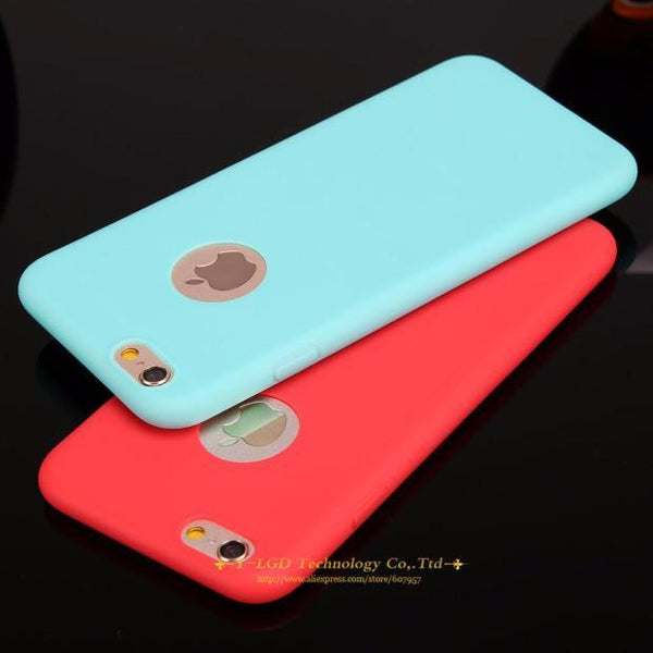 599-Candy Colors Soft TPU Silicon Phone Cases For iPhone