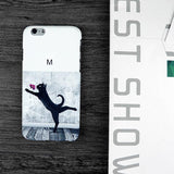 157-Dancing Black Cat Case For iPhone