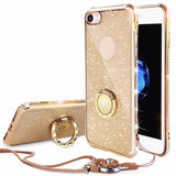 240-Luxury Diamond Case For IPhone 7/7+ With Rhinestones Bling Cover-gold