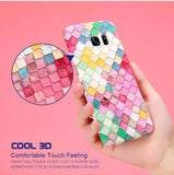 Luminous Fish Scale Phone Shell Cases For Samsung
