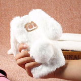 483-Rabbit Shape Soft Furry TPU Rhinestone Case for S8/S8+