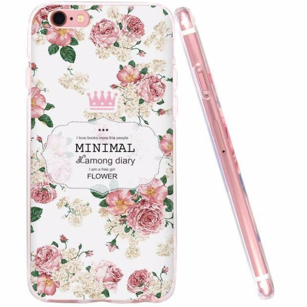 471-Flower Soft Silicone Shell For iPhone