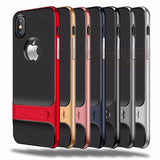 707-Luxury 360 Protective Support Case For iPhone X