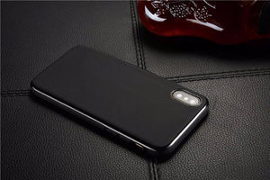 612-Magnetic Soft Silicone Magnet Case for iPhone X