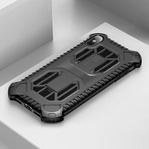 1109-Soft Silicone + Plastic Hybrid Case For iPhone